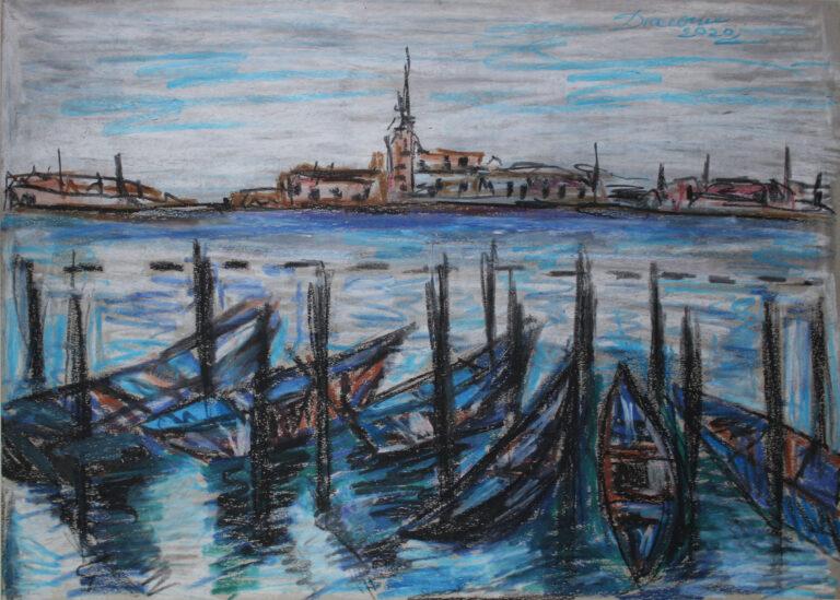 Gondole în Venezia
