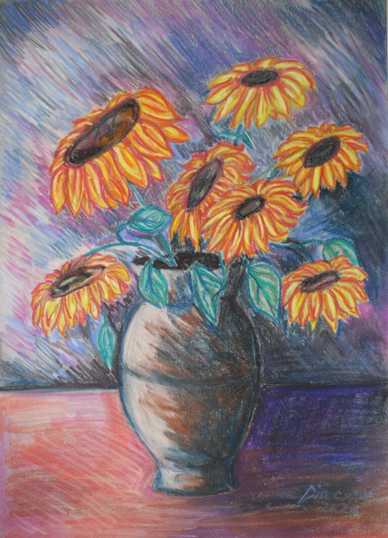 Vas cu Floarea Soarelui